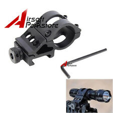 "45 Degree Offset Side Tactical Flashlight Torch Laser  25mm 1"" inch Rail Mount"