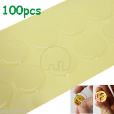 """100Pcs 26mm 1"""" Clear Epoxy Circle Bottle Cap Domes Stickers Dots Crafting DIY"""