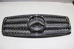 Mercedes Benz W140 Front Grille Chrome & Black 1992-1999 S600 S500 S430 S320