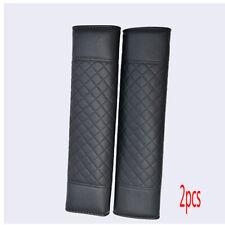 2pcs Black Auto Car Safety Belt Covers Leather Seat Belt Shoulder Pad 24*6.5cm
