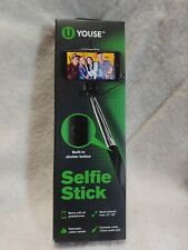 """Youse Extendable Selfie Stick with Shutter Button. Extends 12"""" to 39"""""""