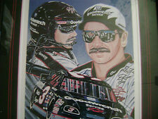 """DALE EARNHARDT/Top Flight 15""""X20"""" SAM BASS SIGNED #79/500 Lithograph In Frame"""