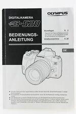 Bedienungsanleitung Olympus E-520 E 520 E520 Anleitung