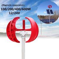 600W Wind Turbine Generator 12V/24V 5 Blade Power Charge Controller