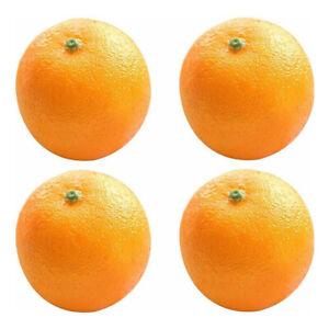 6/12 X Artificiel Faux Simulé Oranges Mousse Fruit Modèle Maison Fête Décor