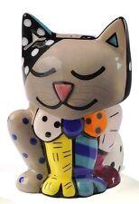 Romero Britto Salt & Pepper Shakers Cat Design #331321 NEW