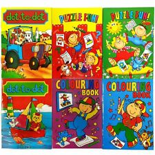 Set of 6 Small Activity Books - Colouring - Dot to Dot - Puzzles - Gift / Filler