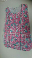 Womens Ladies Floral Apron Work Overall Kitchen pink size os