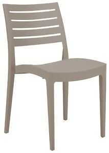 Indoor Outdoor Ladder Back Poly Dining Chairs (2 pc) Mfg Italy Stacks 9 Colors