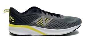 New Balance Men's 870v5 Shoes Grey with Yellow Size 12.5 D