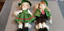 "Hansel and Gretel 12 "" beautifully detailed cloth dolls"