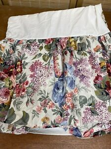 "Ralph Lauren Allison Floral Queen Bed Skirt Dust Ruffle 14.5"" Drop"