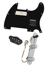 920D Fender Tele Telecaster Loaded Pickguard Duncan STK-T3B, SM-1 Pickups BK