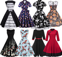 CHEAP Womens Vintage 1950s Rockabilly Retro Pinup Swing Floral Prom Dresses