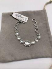 $375 Judith jack sterling silver bracelet white stone J3