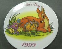 Disney Mother's Day Collector Plate Bambi Deer Near & Dear 1999 Porcelain