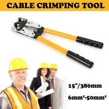 6-50mm² Cable Crimper Anderson Plug Wire Crimping Tool Electric Tube Lug Hex Pvc
