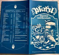 Vintage German Dinner Menu Cueisen And Getrante Blue Restaurant Germany