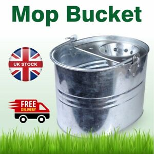 Galvanized Mop Bucket with Strong Handle Flooring Cleaning / Wipe Good Quality