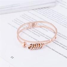 Fashion fashion event ring bracelet titanium steel plated 18k rose gold