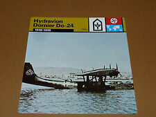 HYDRAVION DORNIER Do-24 1940-1945 LUFTWAFFE AVIATION FICHE WW2 39-45