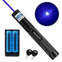 900Miles Assassin Blue Purple/Violet Laser Pointer Pen 405nm Lazer Beam+Charger