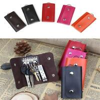 Women&Men New Leather Key Holder Case Key Chain Wallet Key ring Pouch Bag