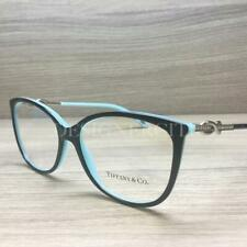 475abc7147 Tiffany   Co. TF 2143-B Eyeglasses Black Silver Turquoise 8055 Authentic  53mm