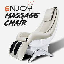 New Electric Shiatsu Massage Chair Recliner ENJOY Full Body White