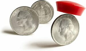 Magician Coin Set, 1x Double Sided heads, Tails, and Magnetic Receptive Quarter