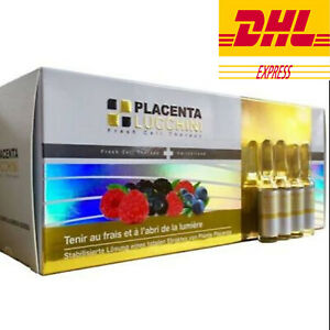 LUCCHINI Placenta Plant Extract (Switzerland) 100% Genuine 1 box / 50 vials