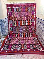 "Old Moroccan Kilim Rug Vintage Handmade Rug Tribal Azilal Berber Wool 11'6"" x 7'"
