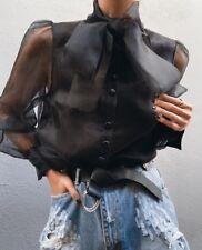 Zara Black Bow Blouse Size XS, S, M, L
