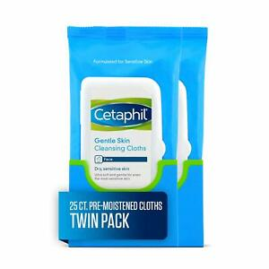 Cetaphil Gentle Skin Cleansing Cloths, 25 Count (Pack of 25 2)