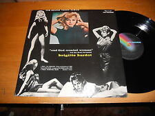 And God Created Woman 50s SOUNDTRACK LP Brigitte Bardot Paul Misraki