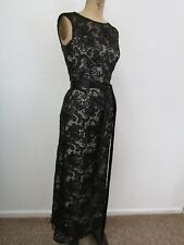 TAWNY BY CHICO'S Black/Beige Lace Cocktail/Party Dress-Size S