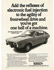 1972 RENAULT 17 Sports Coupe VTG PRINT AD