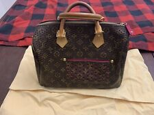 Louis Vuitton Limited Ed Marc Jacobs Pink Fuschia Monogram Perforated Speedy 30