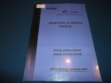 HYTSU V200 SERIES FORKLIFT CPCD20 CPQD 25 30 OPERATION & MAINTENANCE BOOK MANUAL