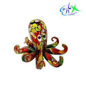 Aquarium Ornament Decor Glass Octopus Betta Fish Tank Decorations Small for Home