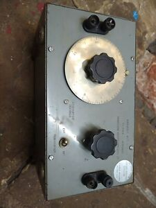Variable attenuator Marconi steampunk radio fallout prop science steel old