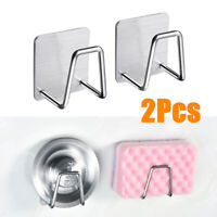 2Pcs Kitchen Sink Soap Sponge Drain Rack Drainer Holder Shelf Storage US