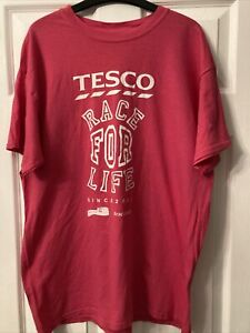 Ladies Large Pink Race For Life T Shirt