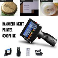 Handheld Inkjet Printer 600DPI Ink Date Words QR Code Barcode Logo Machines