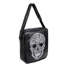 Blue Banana A4 Sugar Skull Day Of The Dead Black Shoulder Bag/Messenger Bag