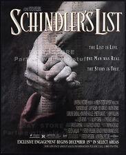SCHINDLER'S LIST__Original 1994 Print AD movie promo__STEVEN SPIELBERG__1993