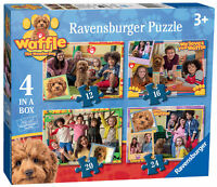 03035 Ravensburger Waffle the Wonder Dog 4 in a Box Jigsaw Puzzle Age 3 Years+