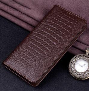 Echt Leder Tasche Magnet Cover Book Case Handy Schutz Klappe Hülle Etui für OPPO