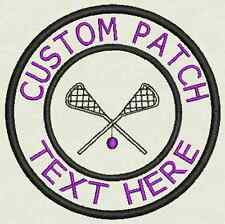 Lacrosse Custom Embroidered Tag, Patch, Badge Iron On or Sew On - 3.50""