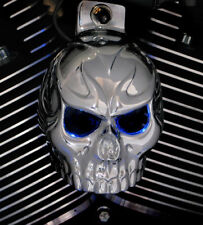 Skull horn cover. Show chrome with back lit LED eyes. Harley Davidson TCL3